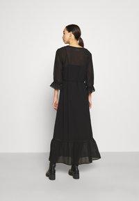 Vila - VIASTRID BUTTON TIE BELT DRESS - Maxi dress - black - 2