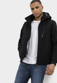 camel active - MIT STEHKRAGEN UND KAPUZE - Summer jacket - black - 5