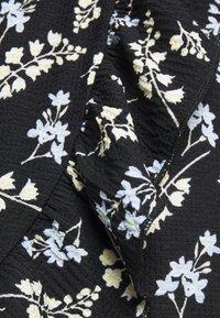 Dorothy Perkins Petite - DITSY FRILL FRONT FAUCHETTE MINI DRESS - Jersey dress - black - 2