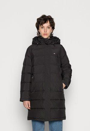 LONG PUFFER COAT - Dūnu mētelis - black