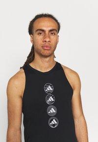 adidas Performance - RUN LOGO TANK M - Sports shirt - black - 3