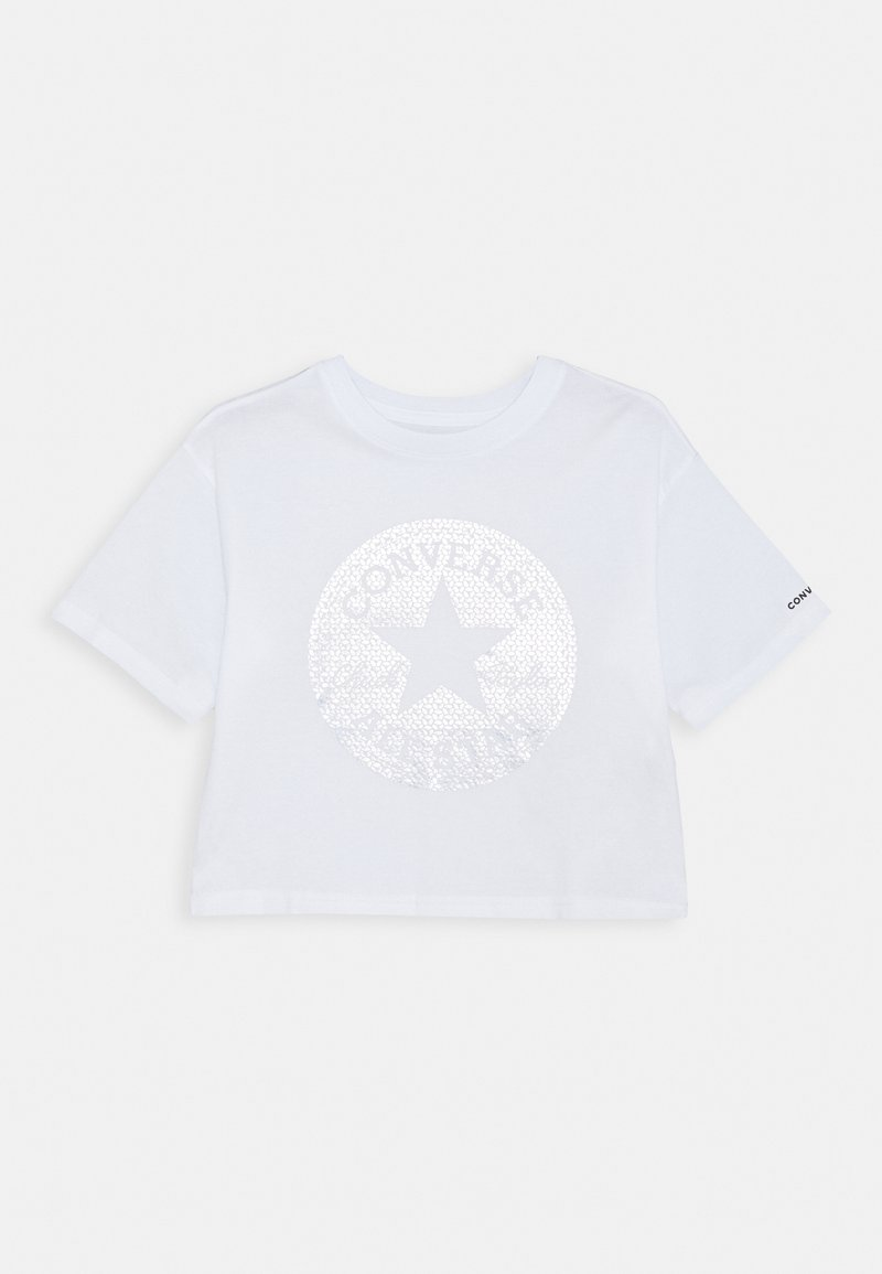 Converse - FAUX SEQUIN CHUCK FILL BOXYTEE - T-shirt print - white