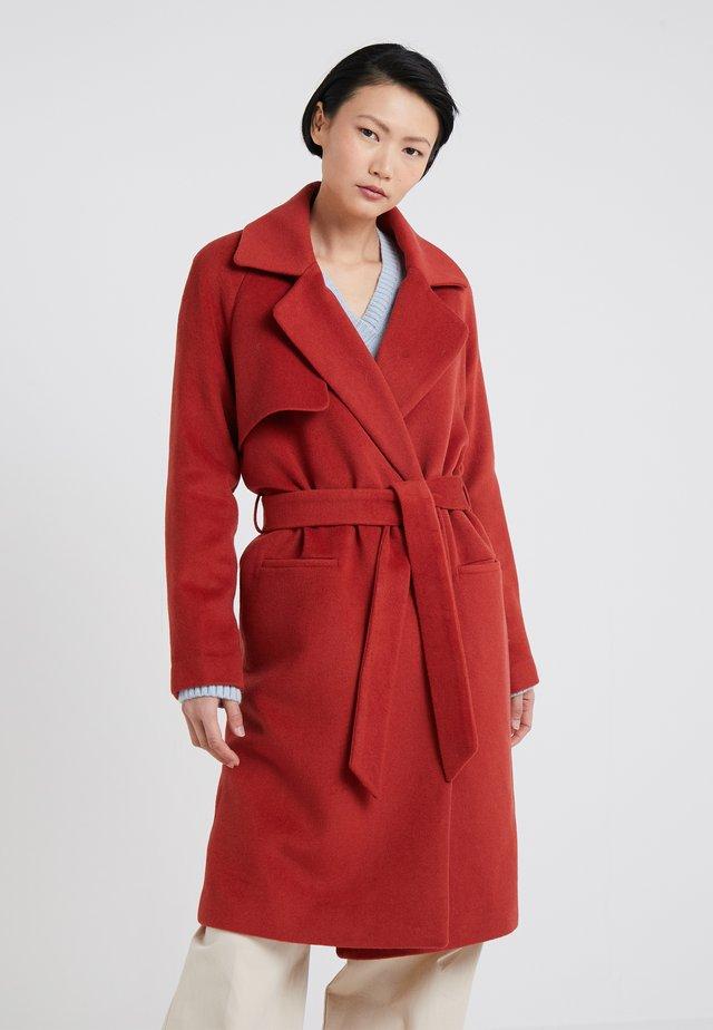 Płaszcz wełniany /Płaszcz klasyczny - red ochre
