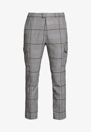 LARGE SCALE CHECK - Pantaloni cargo - grey