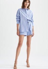 DeFacto - OVERSIZED - Button-down blouse - blue - 1