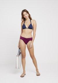 Seafolly - BAND RETRO - Bikini bottoms - boysenberry - 1