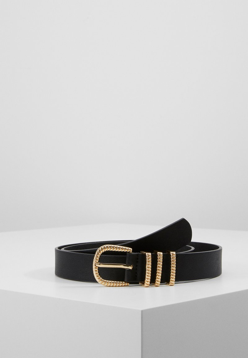 Pieces - PCCHRISTINA JEANS BELT - Riem - black/gold-coloured