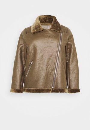 ANDY AVIATOR UPDATE - Faux leather jacket - khaki