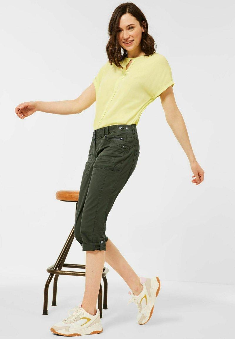 Cecil - Denim shorts - grün