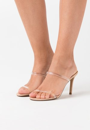 LATEST  - Heeled mules - clear