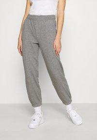 ONLY - ONLDEA DETAIL PANTS  - Tracksuit bottoms - medium grey melange - 0