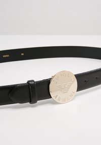 Emporio Armani - MINI DOLLARO CIRCLE BUCKLE - Belt - nero - 4