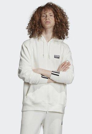 FULL-ZIP HOODIE - Sweatjacke - white