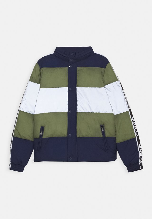 PADDED UNISEX - Winter jacket - black/blue/silver