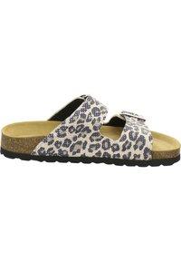 AFS Schuhe - ZWEISCHNALLER - Slippers - natur leo - 4