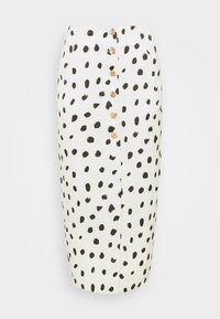 Who What Wear - BUTTON FRONT PENCIL SKIRT - Pencil skirt - cream - 4