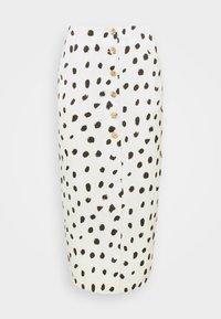 BUTTON FRONT PENCIL SKIRT - Pencil skirt - cream