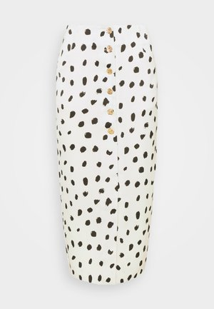 BUTTON FRONT PENCIL SKIRT - Pouzdrová sukně - cream