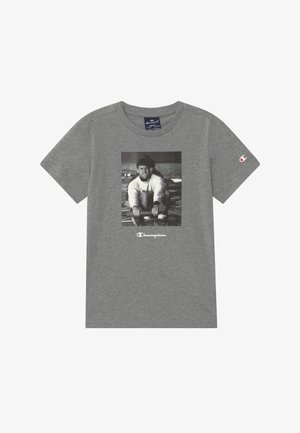 CHAMPION X ZALANDO GRAPHIC - Print T-shirt - mottled grey