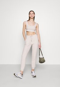 Topshop - COSY BRUSHED SET - Tracksuit bottoms - stone - 1