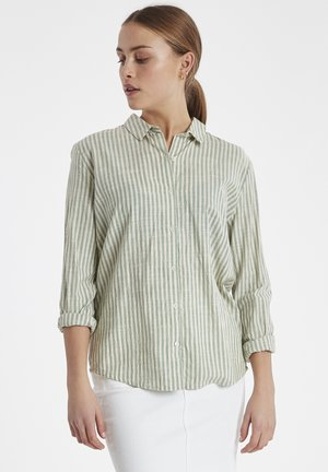 IHTULLE SH - Button-down blouse - malachite green