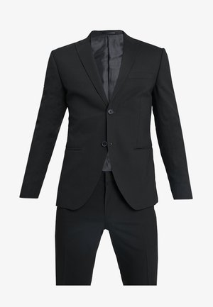 BASIC PLAIN SUIT SLIM FIT - Traje - black