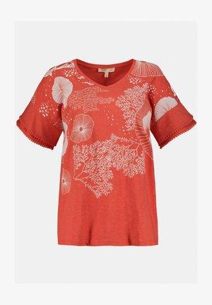 T-shirt print - rouge corail