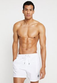 Urban Classics - BLOCK - Swimming shorts - white - 0