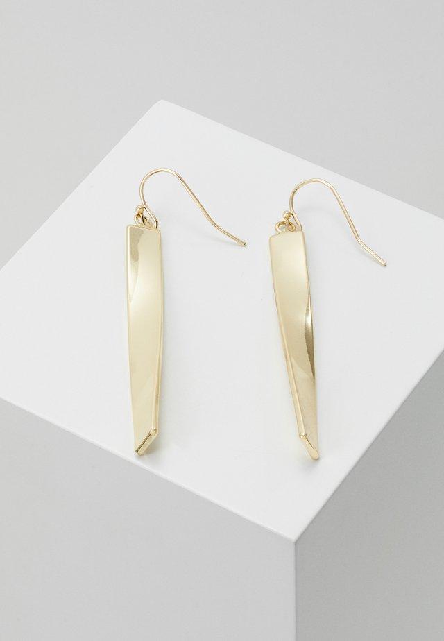 JAIN LONG PENDANT EAR - Orecchini - gold-coloured