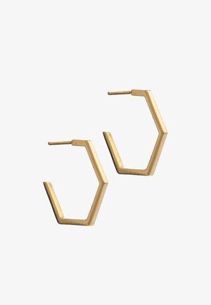 HEXAGON - Oorbellen - gold