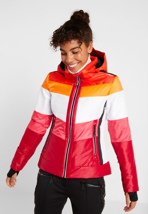 WOMAN JACKET ZIP HOOD - Skijakke - granita