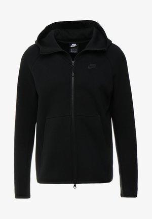 TECH FULLZIP HOODIE - Mikina na zip - black