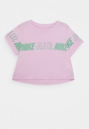 TEE CROP AIR TAPING - T-shirt z nadrukiem - arctic pink