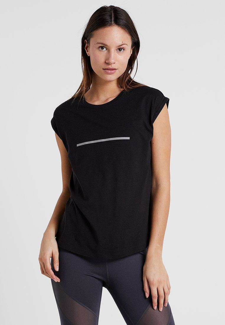 Even&Odd active - T-shirts med print - black