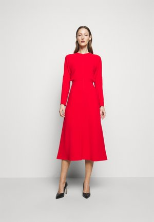 DOLMAN MIDI DRESS - Day dress - tomato red