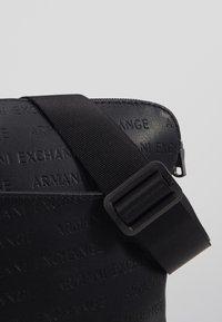 Armani Exchange - SMALL CROSSBODY BAG - Schoudertas - black - 6