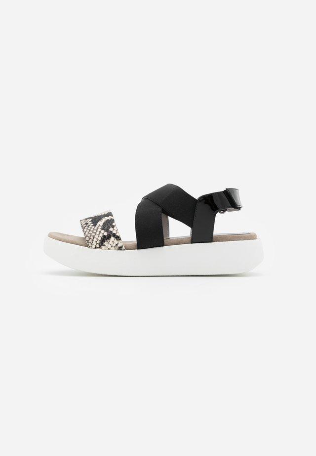 BALMAN - Korkeakorkoiset sandaalit - black