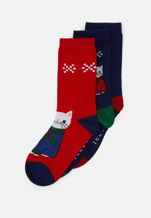 CHRISTMAS CAT SOCKS 3 PACK - Ponožky - multi-coloured