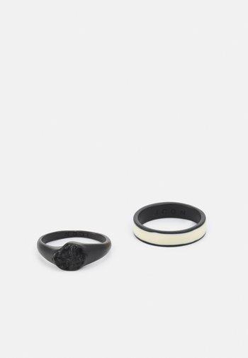 MOLTEN SIGNET 2 PACK - Ring - black