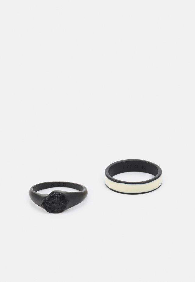 MOLTEN SIGNET 2 PACK - Prsten - black