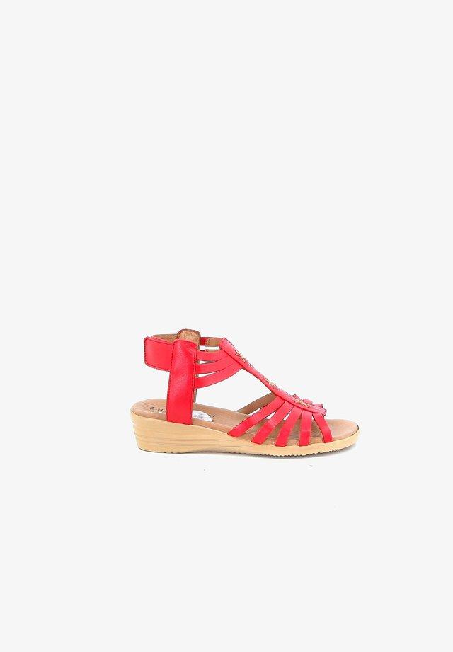 FORS - Sandales compensées - red