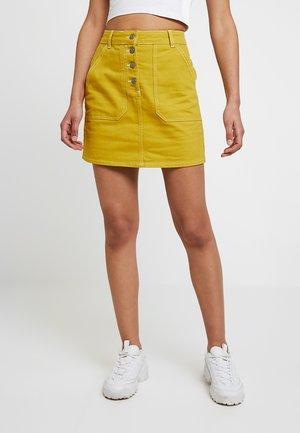 Denim skirt - lime