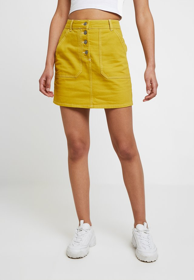 Denim skirt - lime