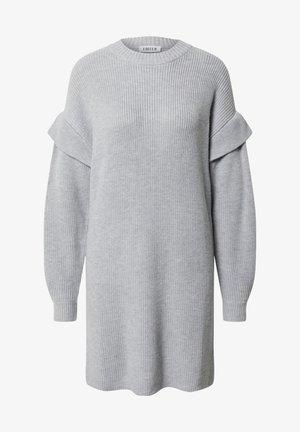 Strikket kjole - grau, graumeliert