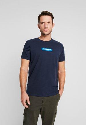Print T-shirt - deep navy