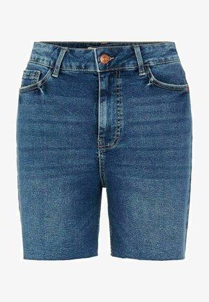 LONGLINE - Shorts vaqueros - medium blue denim