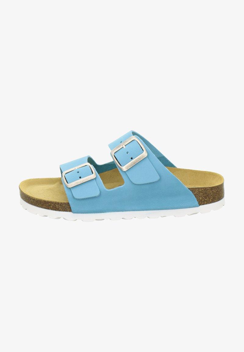 AFS Schuhe - ZWEISCHNALLER - Slippers - türkis
