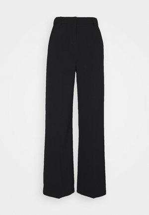 BYDANTA WIDE LEG PANTS - Trousers - black