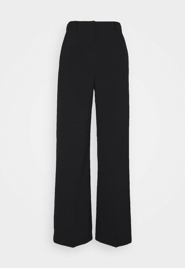 BYDANTA WIDE LEG PANTS - Pantalon classique - black