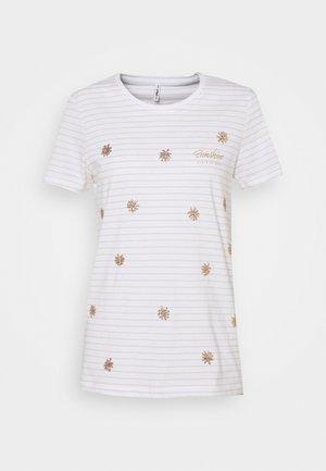 ONLKITA LIFE BOX  - Print T-shirt - bright white/sunshine/pumice stone